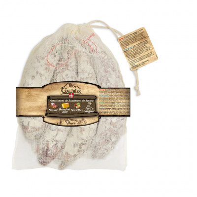 Lot 4x145g assortiments saucissons sous sachet coton (Le galibier)