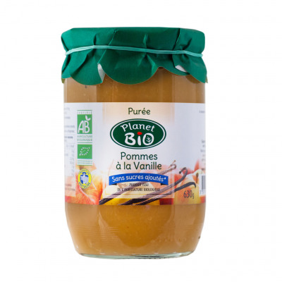 Purée de pommes vanille bio sans sucres ajoutés 630g (Planet bio)