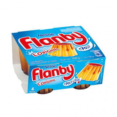 Flanby vanille nappage caramel 4x100g (Flanby)
