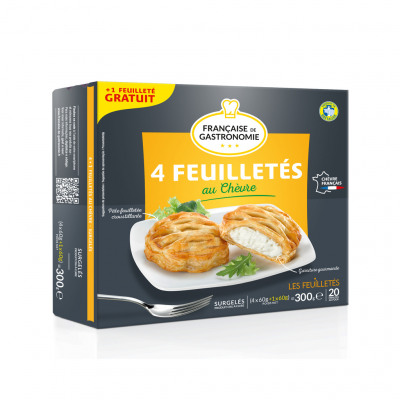 Feuilletes chevre 4+1 *60g fdg (Francaise de gastronomie)
