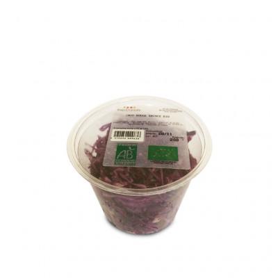 Chou rouge emince bio 200g (Frais eminces)