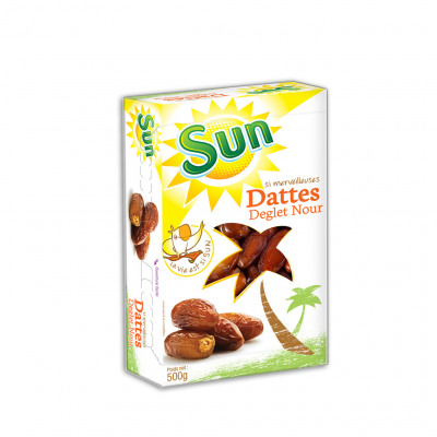 Dattes dn coffret 500gr sun (Sun fruits secs)