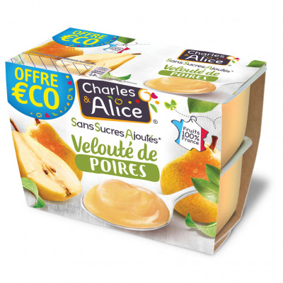 C&a ssa veloute p/poires 4x97g oe (Charles & alice)