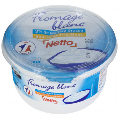 Fromage blanc 3% 500g (Netto)