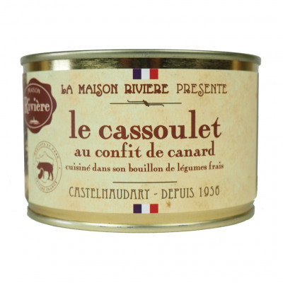Cassoulet de castelnaudary au canard 420g (Maison riviere)