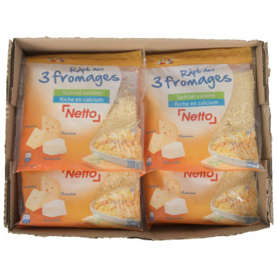 Râpe aux 3 fromages lp 200g (Netto)