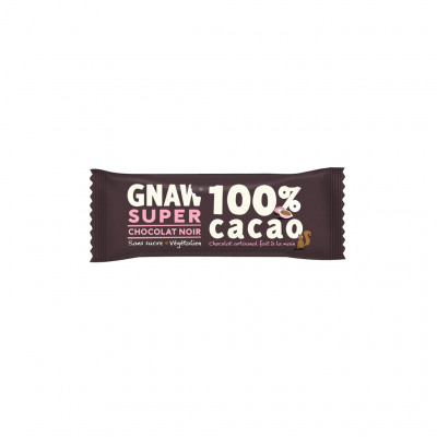 Barre gnaw 100% cacao (Gnaw france la chocolaterie de gnaw)