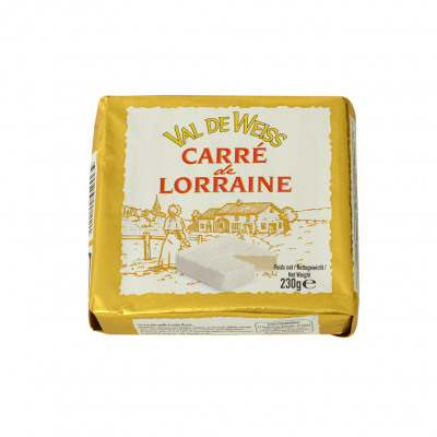 Carré de lorraine 230g mg 27% poids total pasteurisé (Val de weiss)