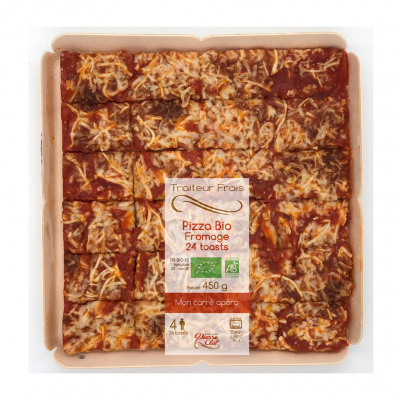 Pizza bio fromage 24 toasts 450g (Pierre clot)