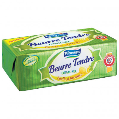Beurre tendre demi-sel (Paturages)