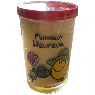 Moutarde de dijon, verre décoré bocal 195g (Carrefour)