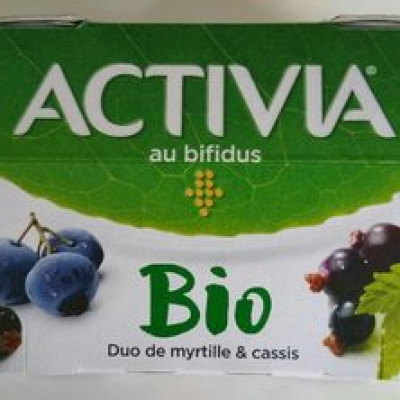 Duo de myrtille et cassis (Activia)