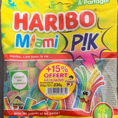 Bonbons miami pik (Haribo)