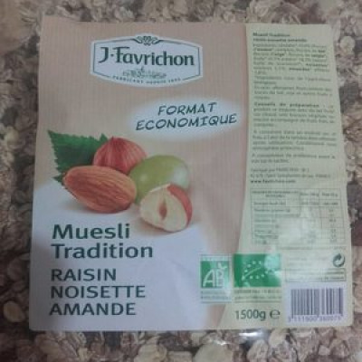 Muesli tradition raisin noisette amande (Joseph favrichon)