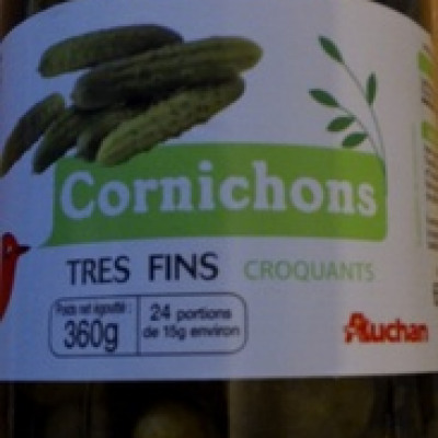 Cornichons très fins croquants (Auchan)