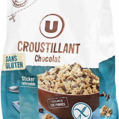 Croustillant au chocolat sans gluten (U)