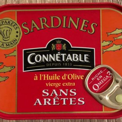 Sardines à l'huile d'olive vierge extra (Connétable)