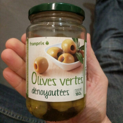 Olives vertes dénoyautées (Franprix)