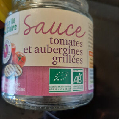 Sauce tomate et aubergines grillees (La vie claire)