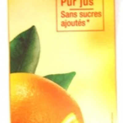 100% pur jus d'orange d'espagne avec pulpe (Carrefour)