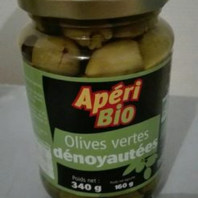 Olives vertes dénoyautées (Aperi bio)