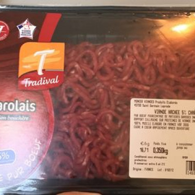 Charolais viande haché 5% (Tradival)