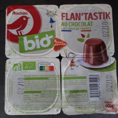 Flan'tastik au chocolat (Auchan)