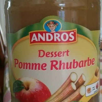 Compote pomme rhubarbe (Andros)