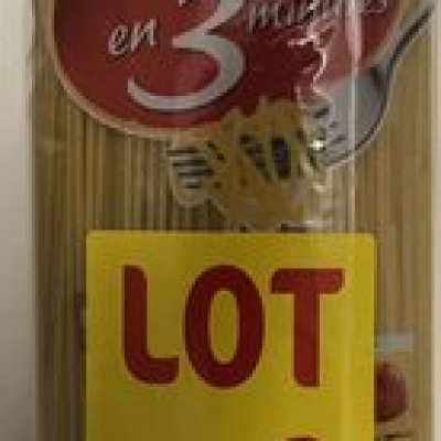 Spaghetti al dente en 3 minutes (Lustucru)