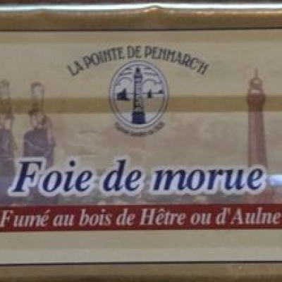 Foie de morue fumé au bois de hêtre ou d'aulne (La pointe de penmarc'h)