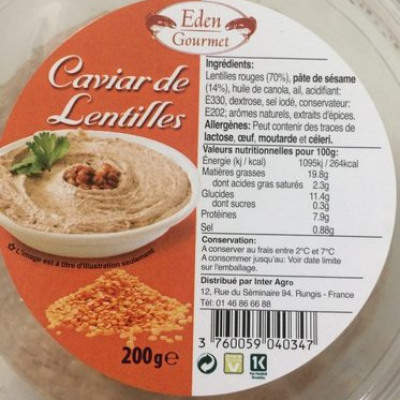 Houmous ras el hanout (Eden gourmet)